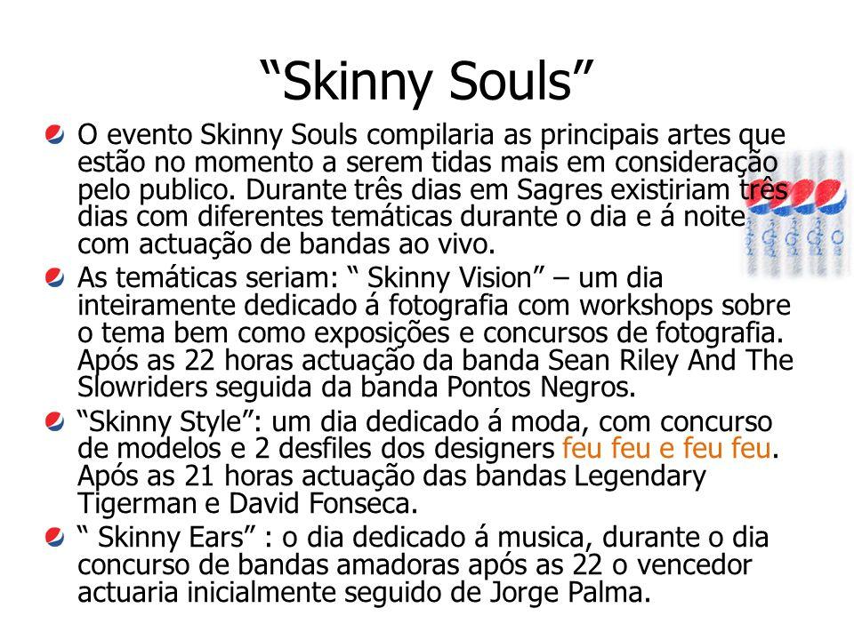 """""""Skinny Souls"""" O evento Skinny Souls compilaria as principais artes que estão no momento a serem tidas mais em consideração pelo publico. Durante três"""