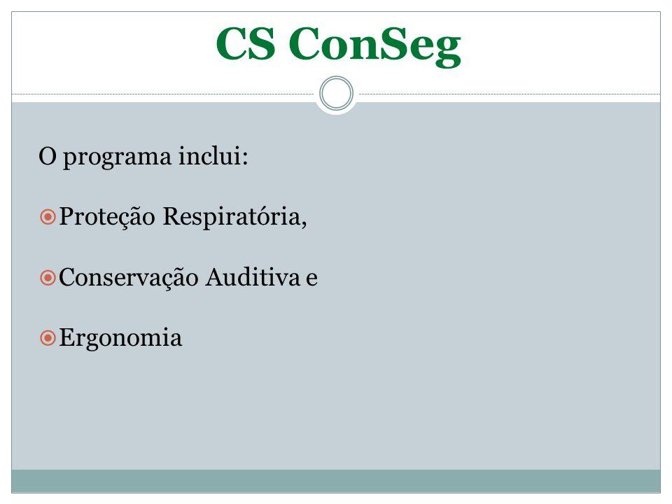 CS ConSeg Inspeções e auditorias de Segurança, com periodicidade nas áreas e responsáveis.