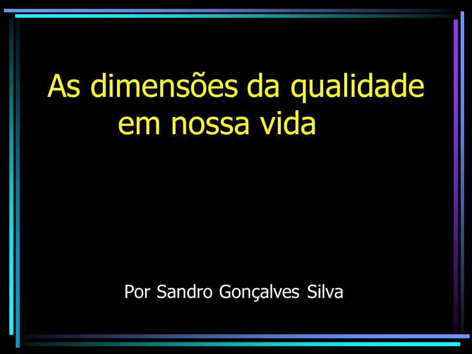 As dimensões da qualidade em nossa vida Por Sandro Gonçalves Silva