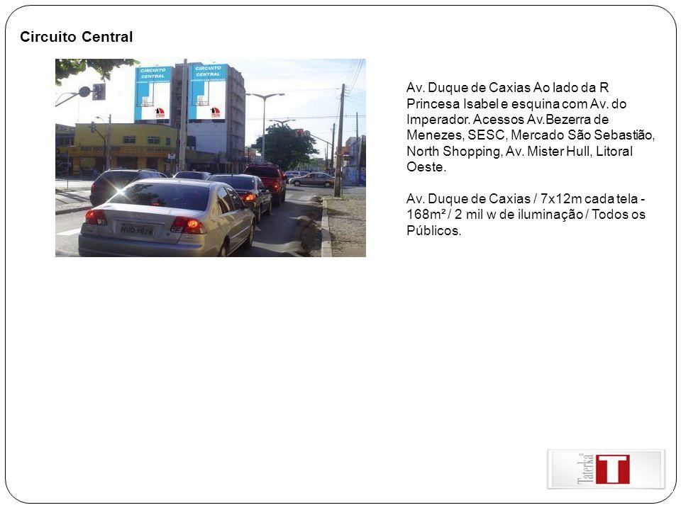 Circuito Central Av. Duque de Caxias Ao lado da R Princesa Isabel e esquina com Av. do Imperador. Acessos Av.Bezerra de Menezes, SESC, Mercado São Seb