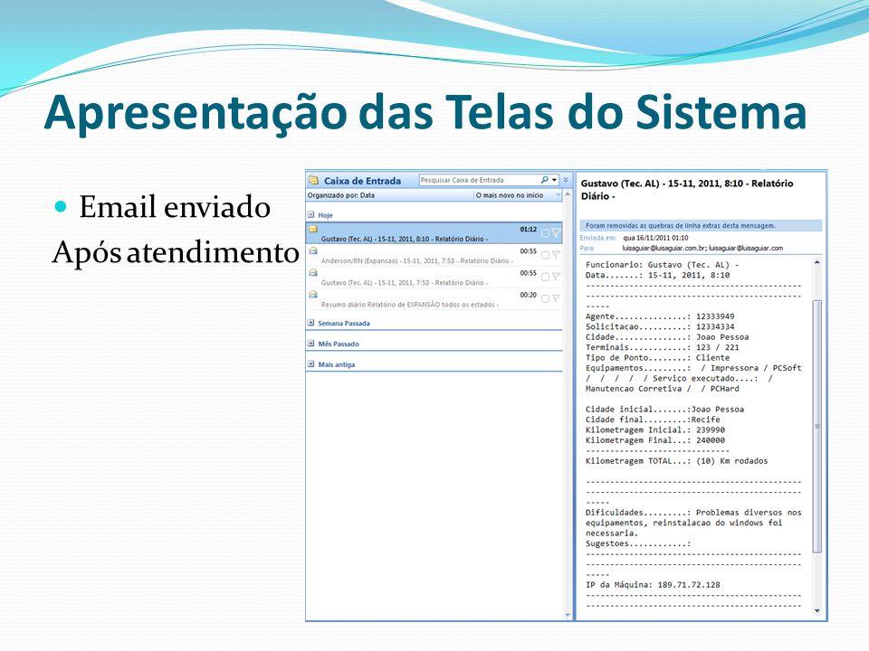 Tela do Consultor Apresentação das Telas do Sistema