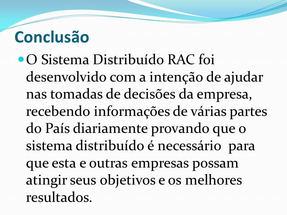 Questions .Como o RAC pode Auxiliar no Help Desk/0800 da empresa .