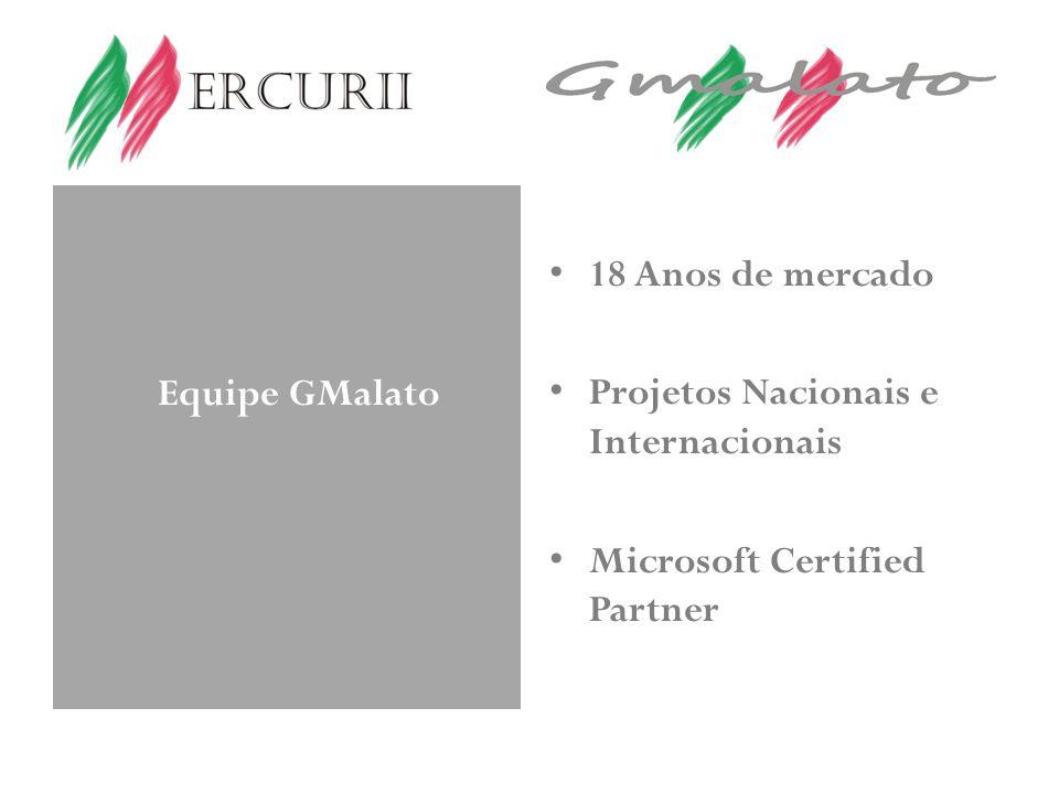 Equipe GMalato 18 Anos de mercado Projetos Nacionais e Internacionais Microsoft Certified Partner