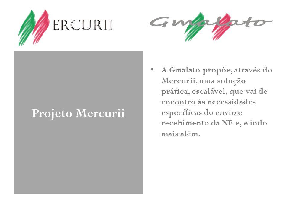Projeto Mercurii A Gmalato propõe, através do Mercurii, uma solução prática, escalável, que vai de encontro às necessidades específicas do envio e recebimento da NF-e, e indo mais além.