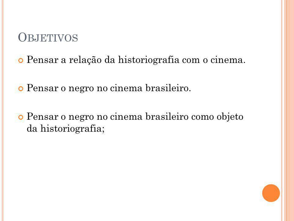 O BJETIVOS Pensar a relação da historiografia com o cinema.