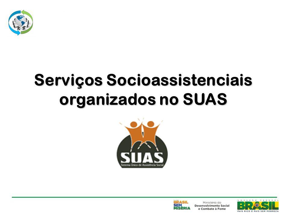 Serviços Socioassistenciais organizados no SUAS