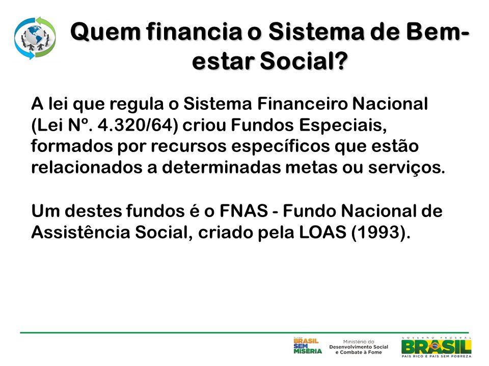 A lei que regula o Sistema Financeiro Nacional (Lei Nº. 4.320/64) criou Fundos Especiais, formados por recursos específicos que estão relacionados a d
