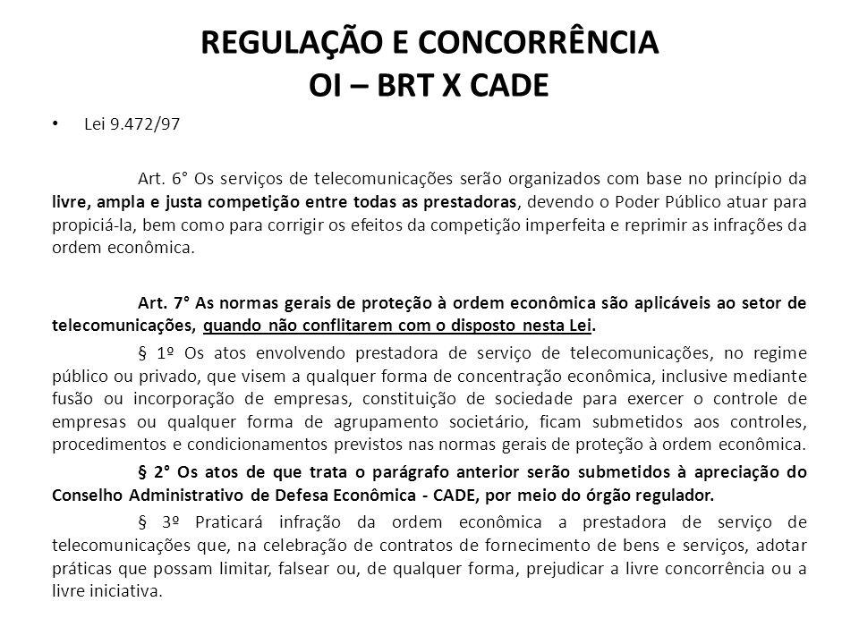 Lei 9.472/97 Art. 6° Os serviços de telecomunicações serão organizados com base no princípio da livre, ampla e justa competição entre todas as prestad