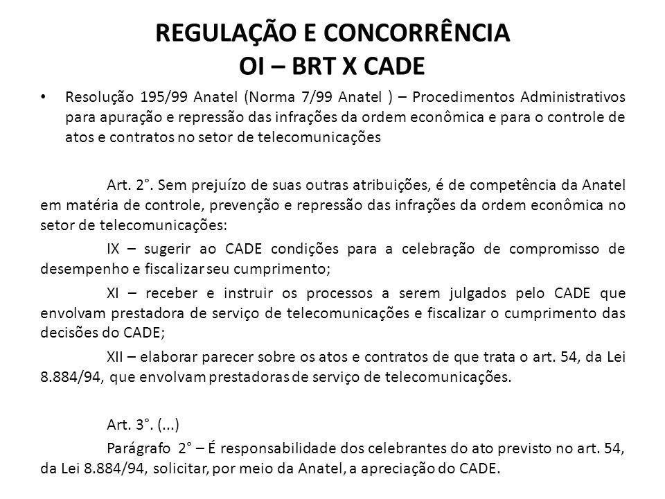 Resolução 195/99 Anatel (Norma 7/99 Anatel ) – Procedimentos Administrativos para apuração e repressão das infrações da ordem econômica e para o contr