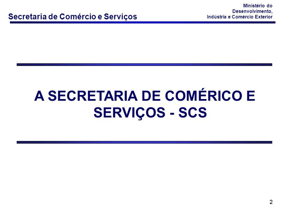 Secretaria de Comércio e Serviços Ministério do Desenvolvimento, Indústria e Comércio Exterior 33