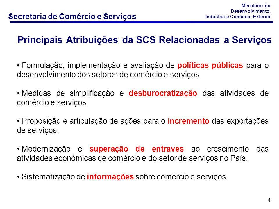 Secretaria de Comércio e Serviços Ministério do Desenvolvimento, Indústria e Comércio Exterior 85 A NBS tomou por base a Central Products Classification (CPC), draft 2.0, de 18 de agosto de 2007.