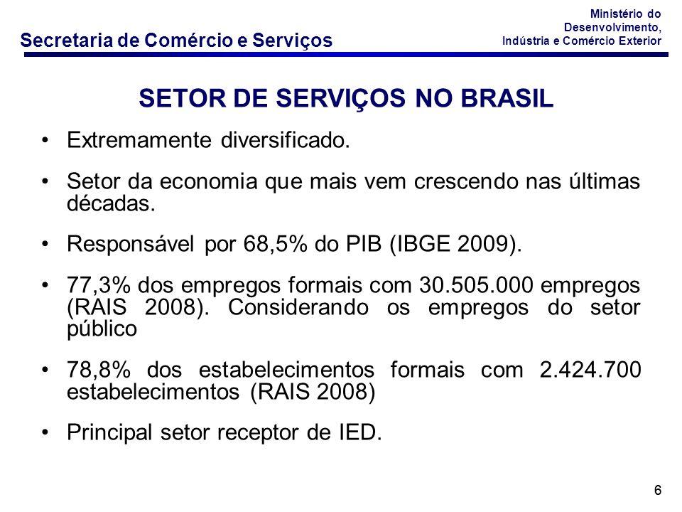 Secretaria de Comércio e Serviços Ministério do Desenvolvimento, Indústria e Comércio Exterior 7 PARTICIPAÇÃO % NO INVESTIMENTO ESTRANGEIRO DIRETO NO BRASIL % SHARE IN THE FOREIGN DIRECT INVESTMENT IN BRAZIL Fonte: Banco Central do Brasil / Elaboração : DECOS/ SCS Source: Central Bank of Brazil / Elaboration : DECOS/ SCS