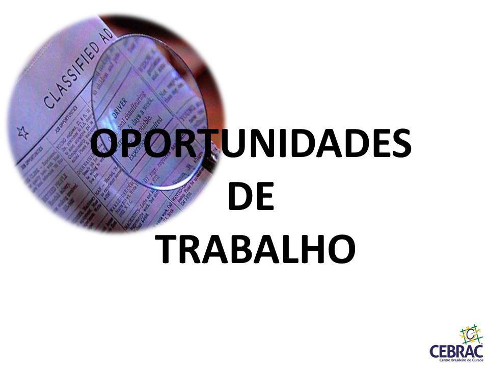 OPORTUNIDADES DE TRABALHO