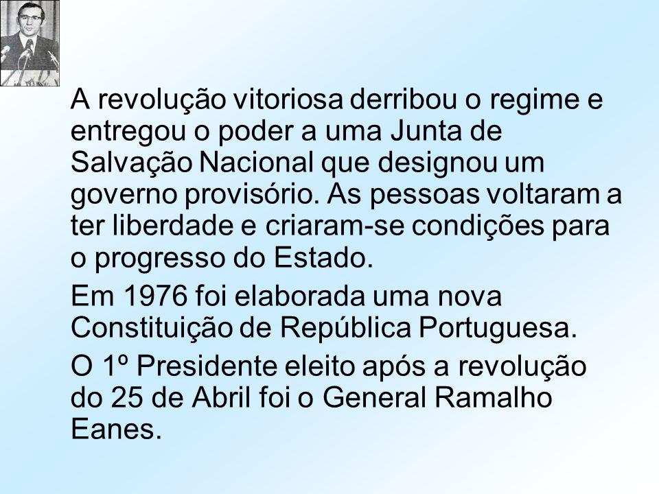 A revolução vitoriosa derribou o regime e entregou o poder a uma Junta de Salvação Nacional que designou um governo provisório. As pessoas voltaram a