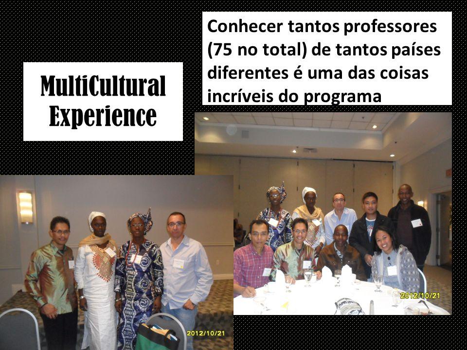 MultiCultural Experience Conhecer tantos professores (75 no total) de tantos países diferentes é uma das coisas incríveis do programa