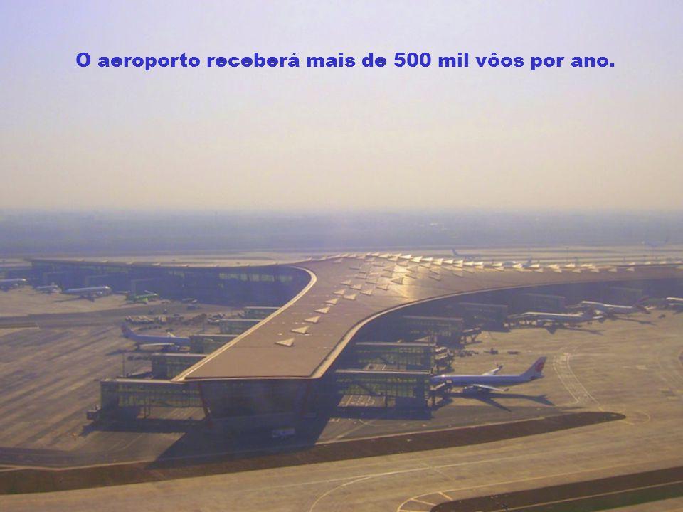 O aeroporto receberá mais de 500 mil vôos por ano.