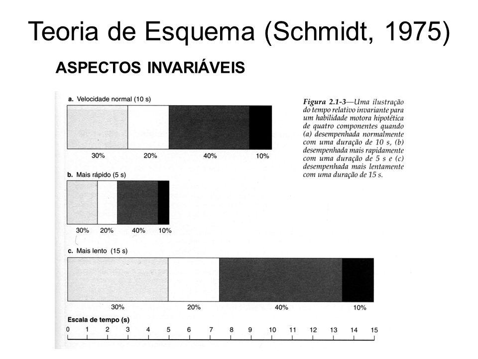 Teoria de Esquema (Schmidt, 1975) ASPECTOS INVARIÁVEIS
