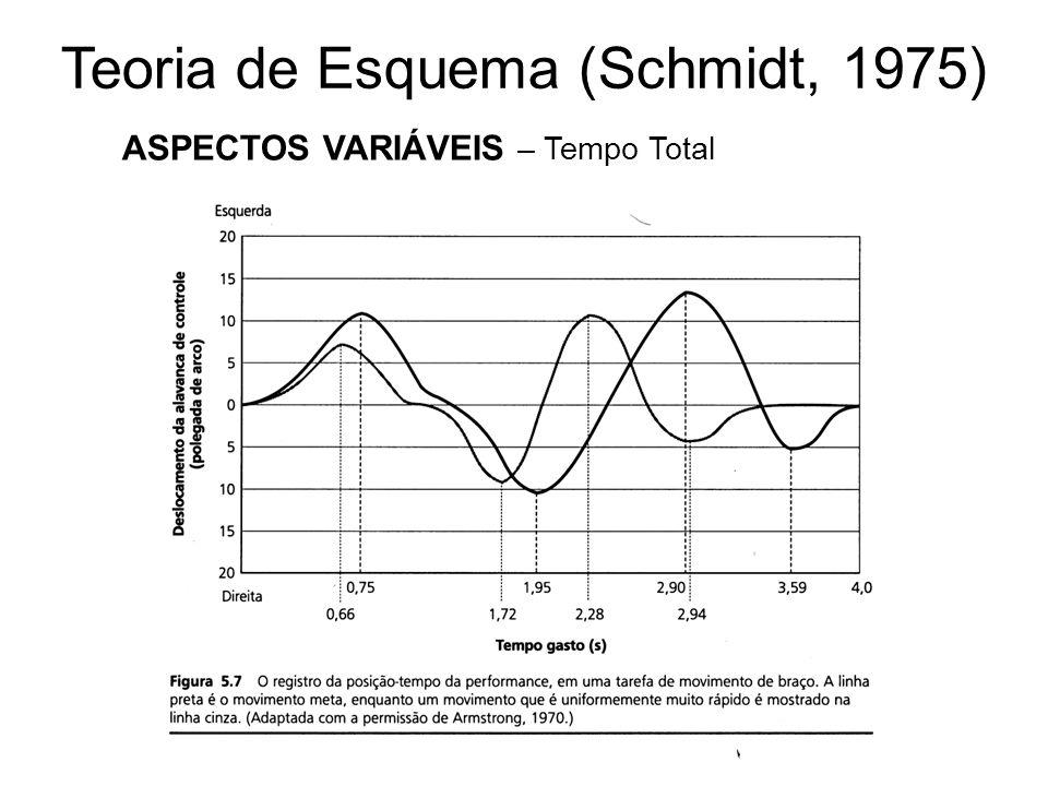 Teoria de Esquema (Schmidt, 1975) ASPECTOS VARIÁVEIS – Tempo Total