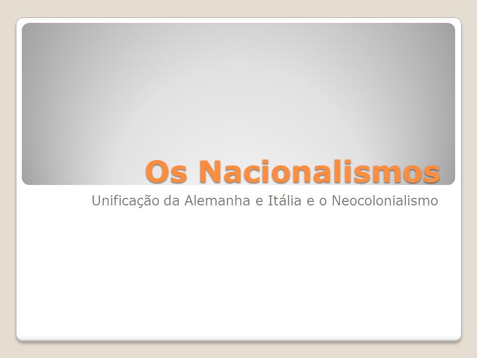 Nacionalismo: Nação é um conceito histórico utilizado para explicar os processos de formação dos denominados estados-nação.