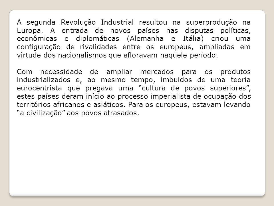 A segunda Revolução Industrial resultou na superprodução na Europa.
