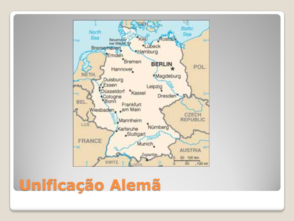A região da atual Alemanha também era ocupada por diversos ducados até meados de 1850.