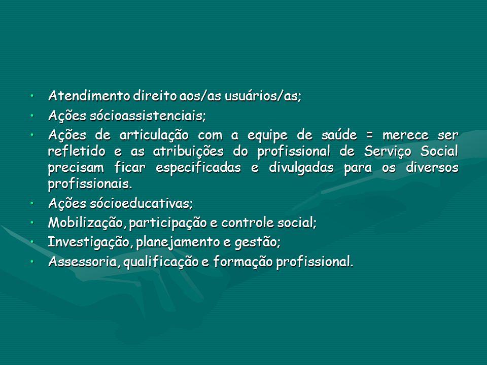 Atendimento direito aos/as usuários/as;Atendimento direito aos/as usuários/as; Ações sócioassistenciais;Ações sócioassistenciais; Ações de articulação