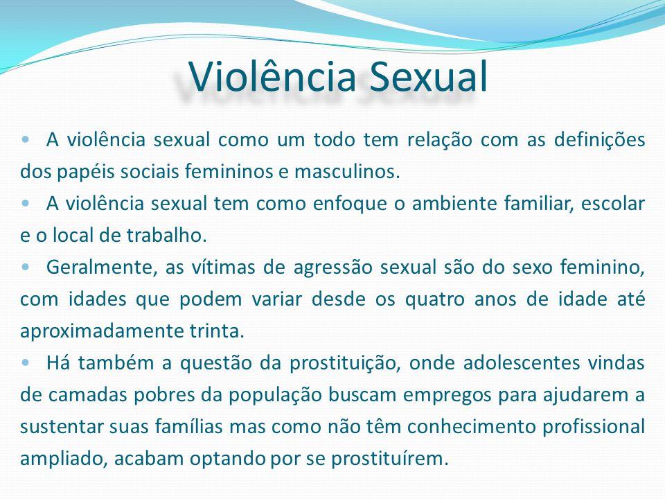 A violência sexual como um todo tem relação com as definições dos papéis sociais femininos e masculinos. A violência sexual tem como enfoque o ambient