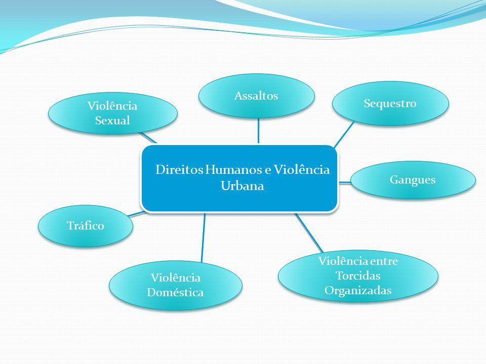 Direitos Humanos e Violência Urbana Violência entre Torcidas Organizadas Violência Doméstica Violência Sexual Assaltos Tráfico Gangues Sequestro