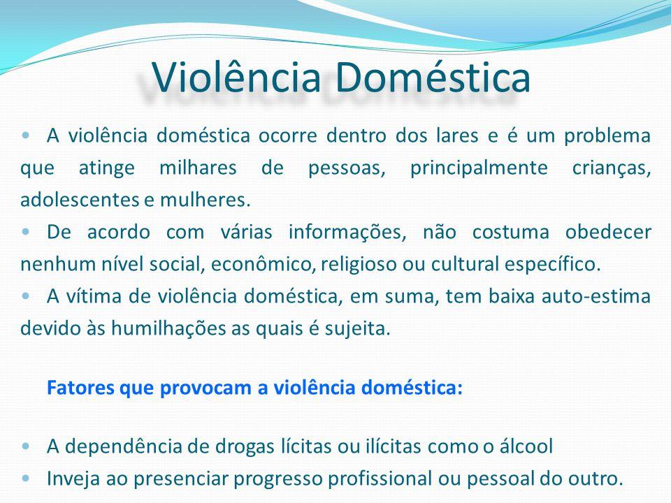 A violência doméstica ocorre dentro dos lares e é um problema que atinge milhares de pessoas, principalmente crianças, adolescentes e mulheres. De aco