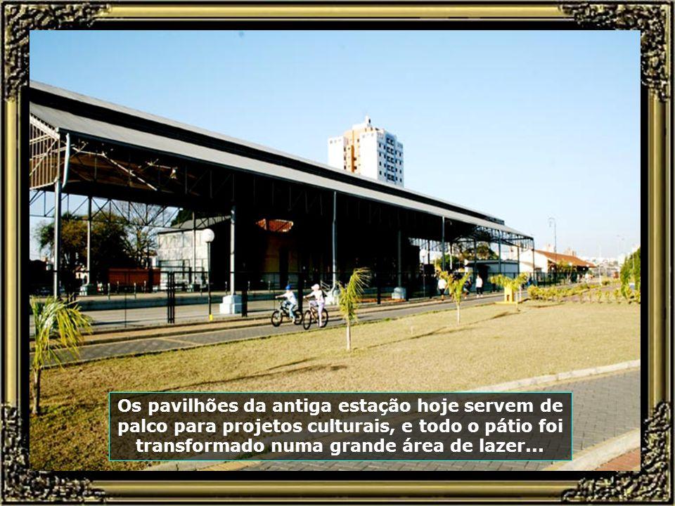 Saudosa estação de trens da Paulista-FEPASA, hoje totalmente restaurada.