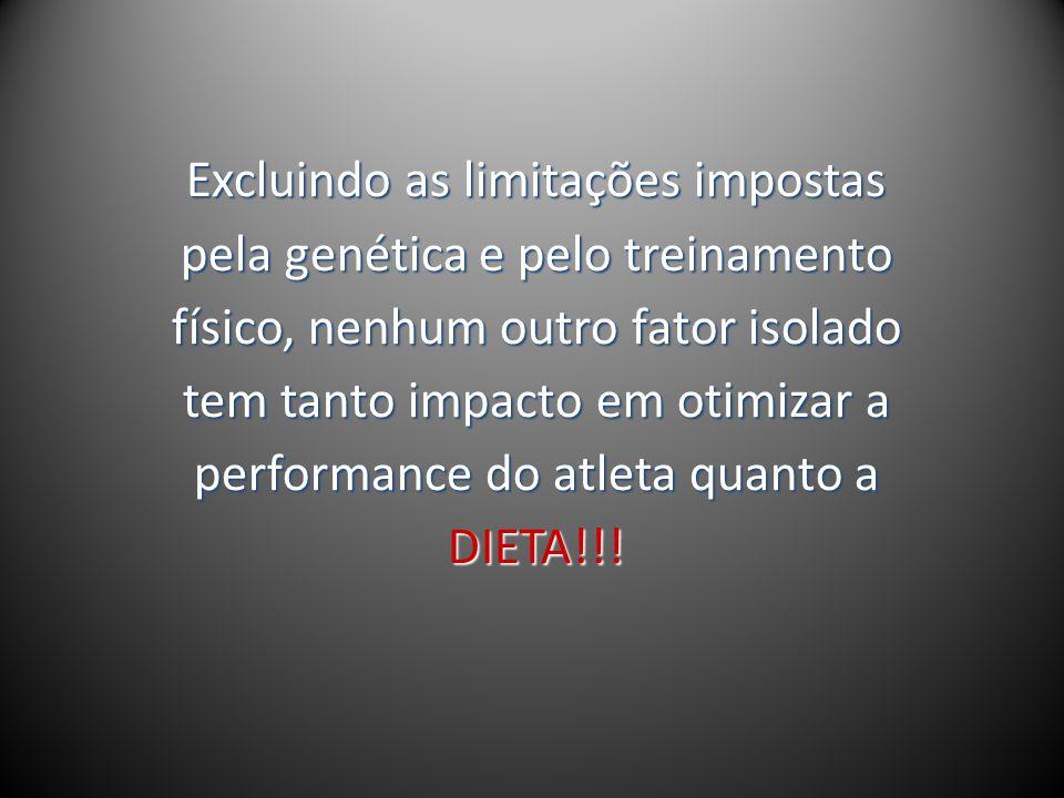 Excluindo as limitações impostas pela genética e pelo treinamento físico, nenhum outro fator isolado tem tanto impacto em otimizar a performance do at