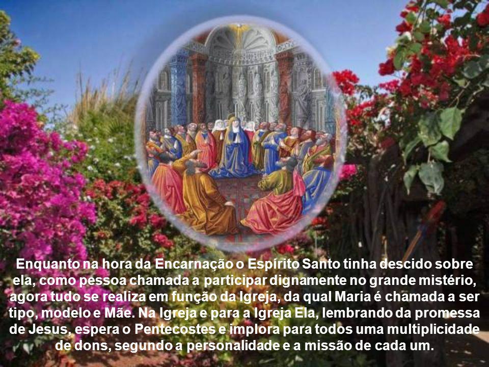 Com efeito, ao pé da cruz, Maria tinha sido investida de uma nova maternidade, em relação aos discípulos de Jesus. Precisamente esta missão exigia um