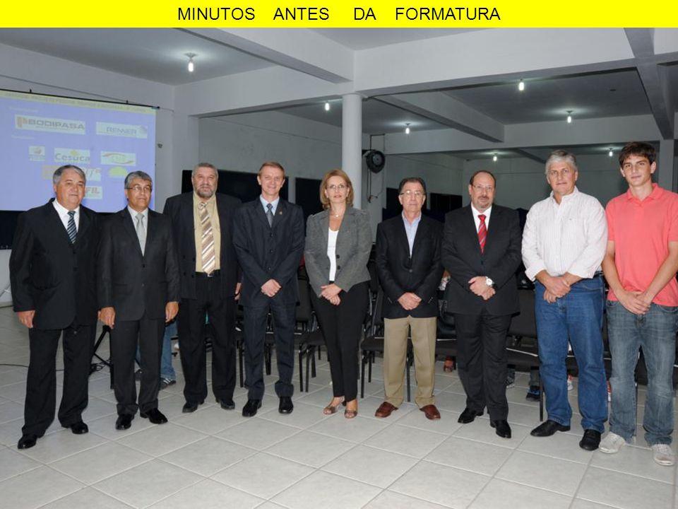 MINUTOS ANTES DA FORMATURA