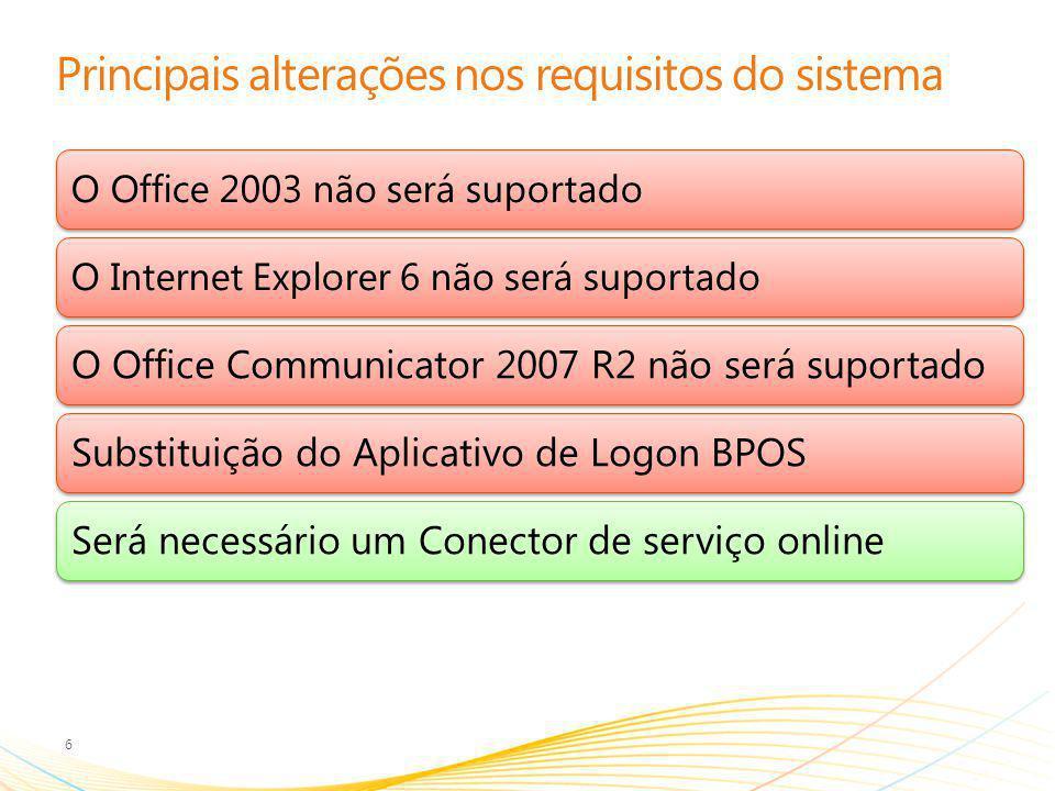Compreendendo o termo Office 7 ServiçoCliente Cliente avançado Complementos para o Cliente baseado em navegador Office Web Apps Complemento de leitura e edição do Office baseado em navegador Office Pro Plus Assinatura do Office – não incluída em todos os planos do Office 365.