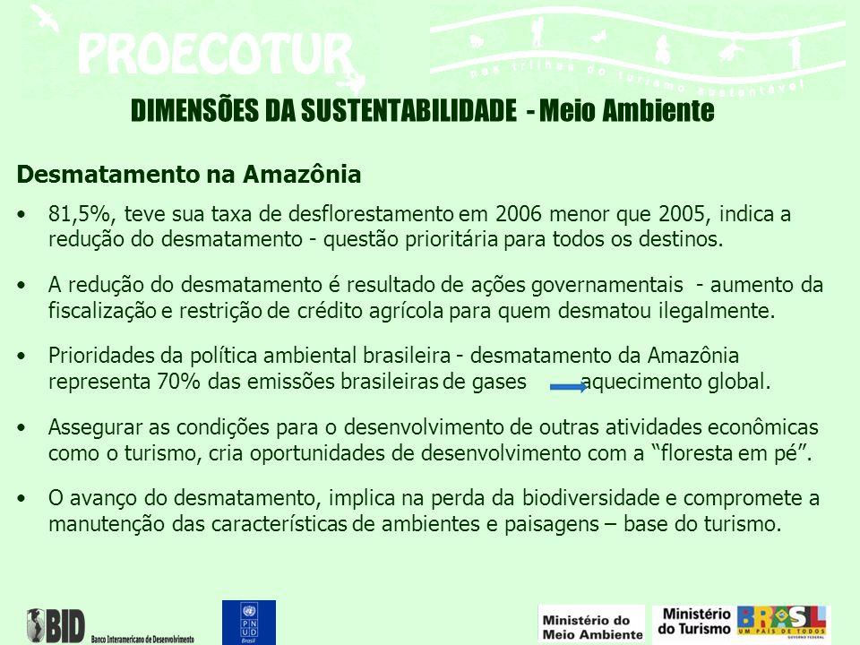 Desmatamento na Amazônia 81,5%, teve sua taxa de desflorestamento em 2006 menor que 2005, indica a redução do desmatamento - questão prioritária para