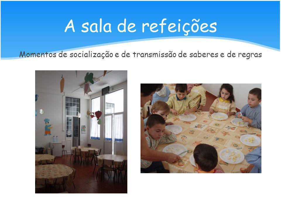 A sala de refeições Momentos de socialização e de transmissão de saberes e de regras