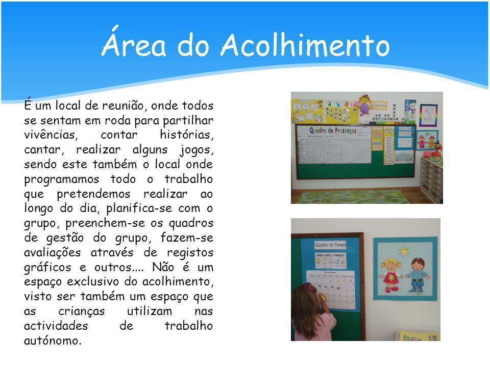 No início do ano lectivo foram definidas algumas áreas, tendo em conta os níveis de desenvolvimento, interesses e vivências das crianças; Foi atribuíd