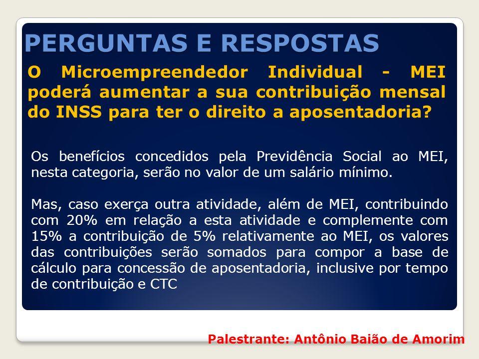 O Microempreendedor Individual - MEI poderá aumentar a sua contribuição mensal do INSS para ter o direito a aposentadoria? Os benefícios concedidos pe