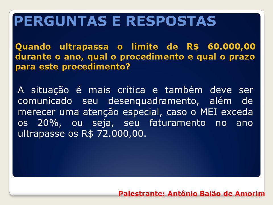 Quando ultrapassa o limite de R$ 60.000,00 durante o ano, qual o procedimento e qual o prazo para este procedimento? A situação é mais crítica e també