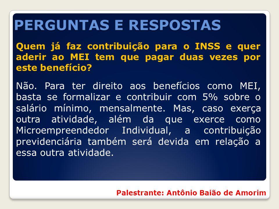Quem já faz contribuição para o INSS e quer aderir ao MEI tem que pagar duas vezes por este benefício? Não. Para ter direito aos benefícios como MEI,