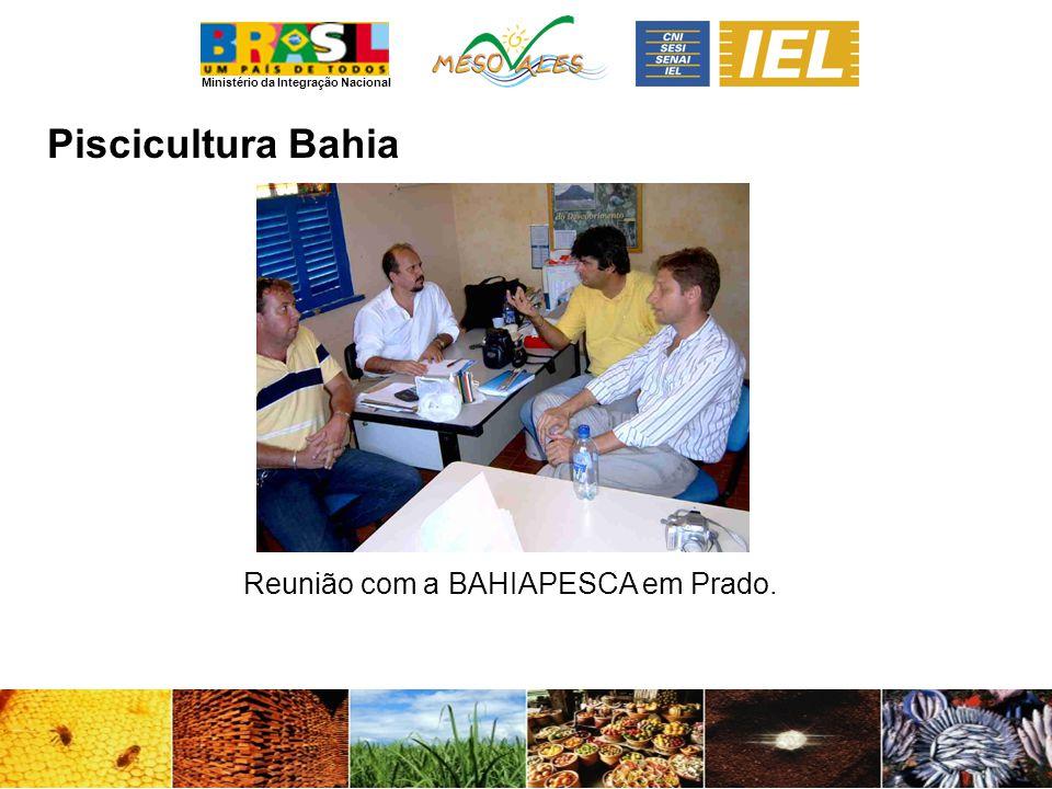 Ministério da Integração Nacional PisciculturaBahia Reunião com a BAHIAPESCA em Prado.