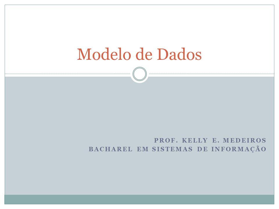 PROF. KELLY E. MEDEIROS BACHAREL EM SISTEMAS DE INFORMAÇÃO Modelo de Dados