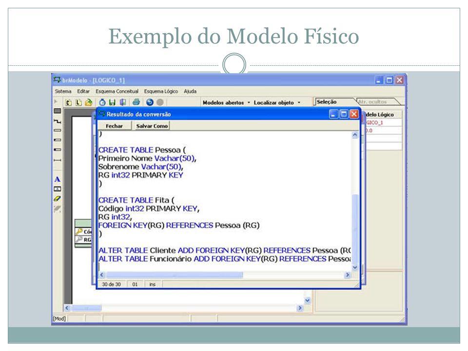 Exemplo do Modelo Físico