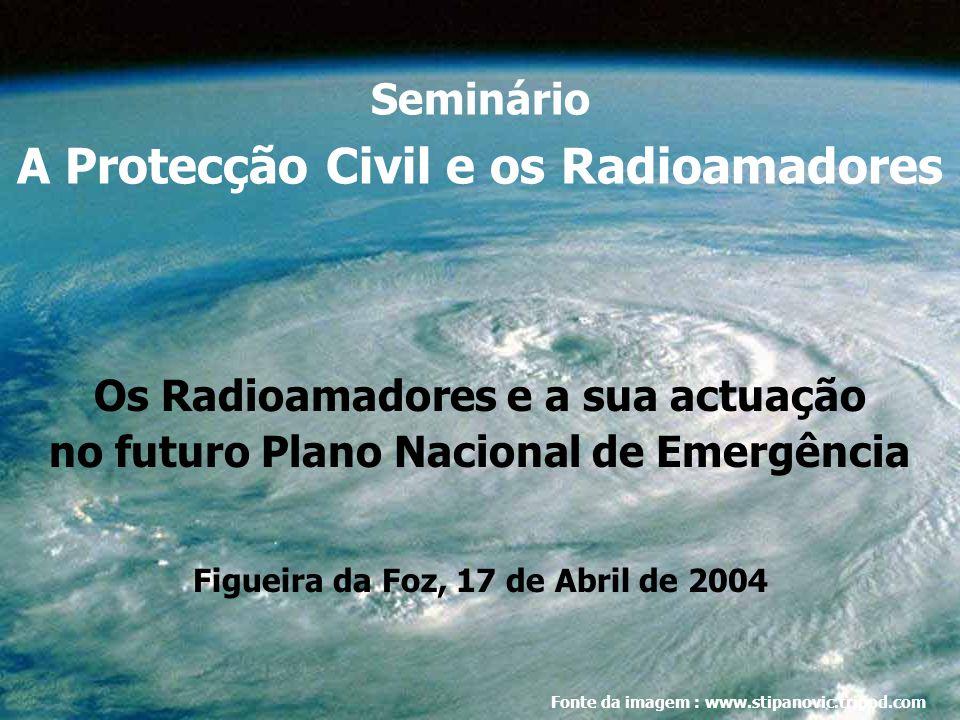 Seminário A Protecção Civil e os Radioamadores Os Radioamadores e a sua actuação no futuro Plano Nacional de Emergência Figueira da Foz, 17 de Abril de 2004 Fonte da imagem : www.stipanovic.tripod.com