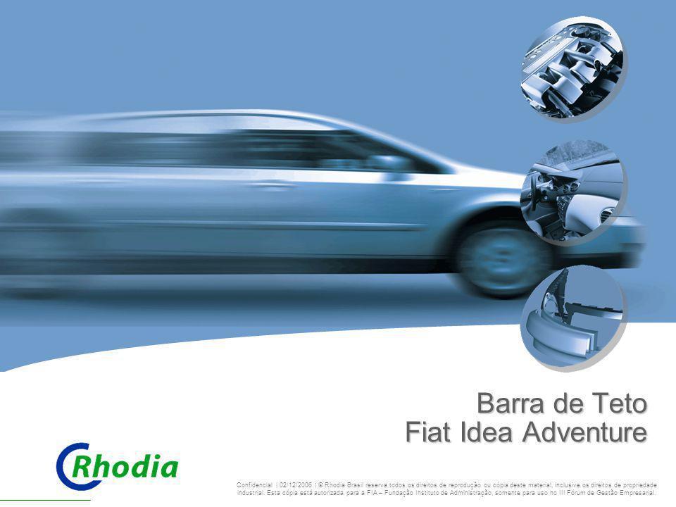 CHALLENGING BOUNDARIES Barra de Teto Fiat Idea Adventure Confidencial | 02/12/2006 | © Rhodia Brasil reserva todos os direitos de reprodução ou cópia