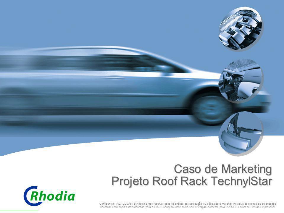 CHALLENGING BOUNDARIES Caso de Marketing Projeto Roof Rack TechnylStar Confidencial | 02/12/2006 | © Rhodia Brasil reserva todos os direitos de reprod