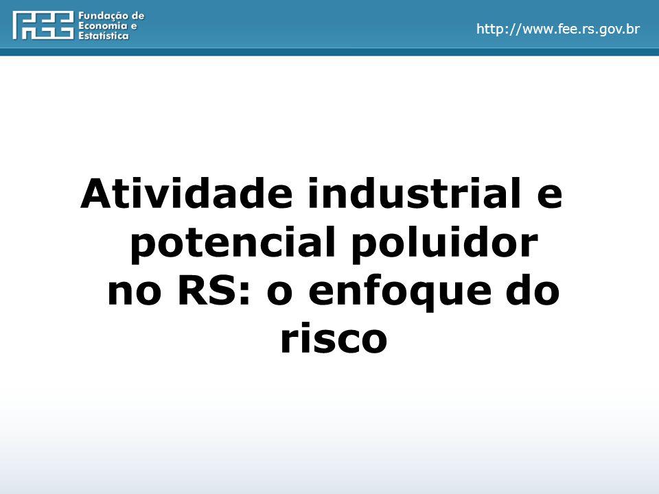http://www.fee.rs.gov.br Atividade industrial e potencial poluidor no RS: o enfoque do risco