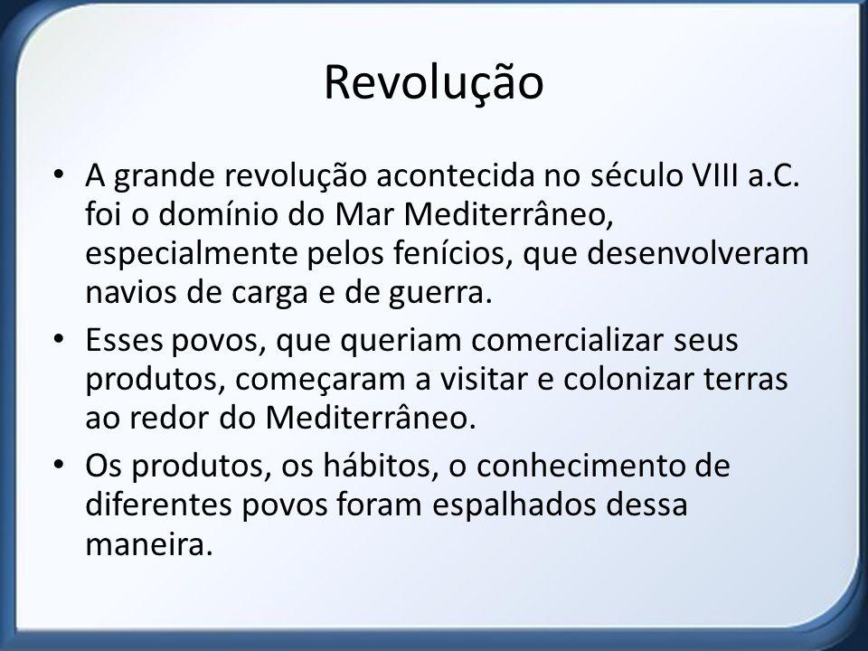 Revolução A grande revolução acontecida no século VIII a.C.