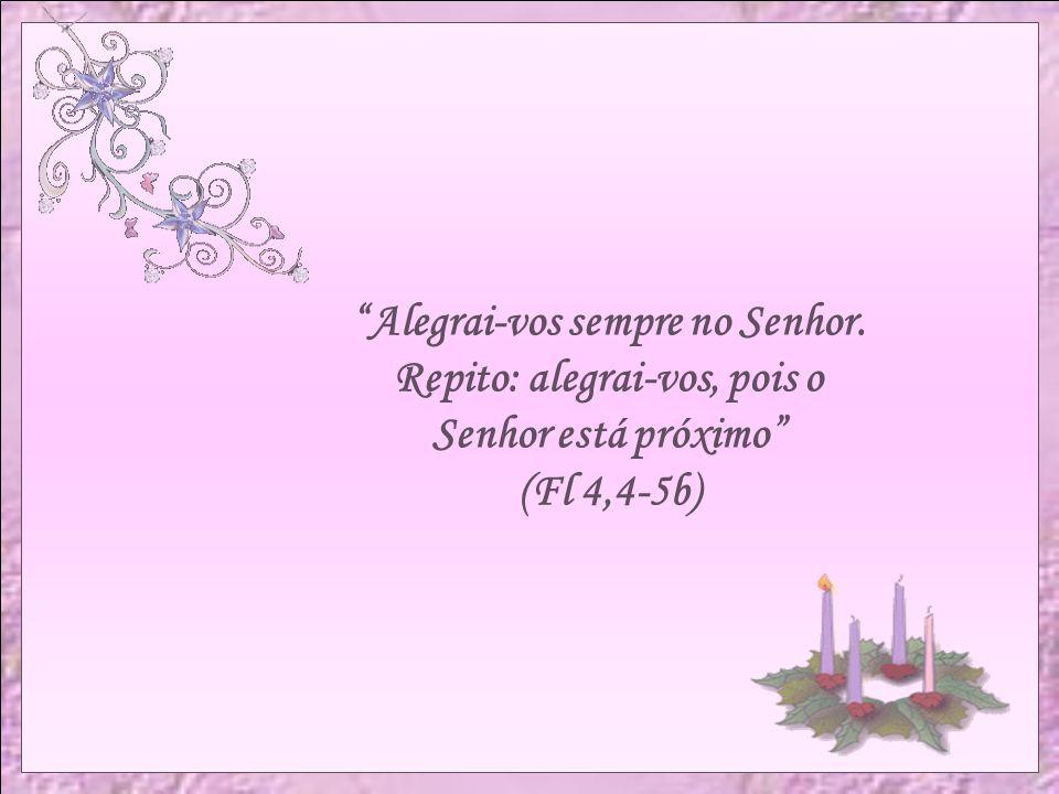 Para o terceiro domingo a vela terá a cor rosa e simboliza a alegria do rei David, que celebrou a aliança e sua continuidade. Os fiéis são chamados a
