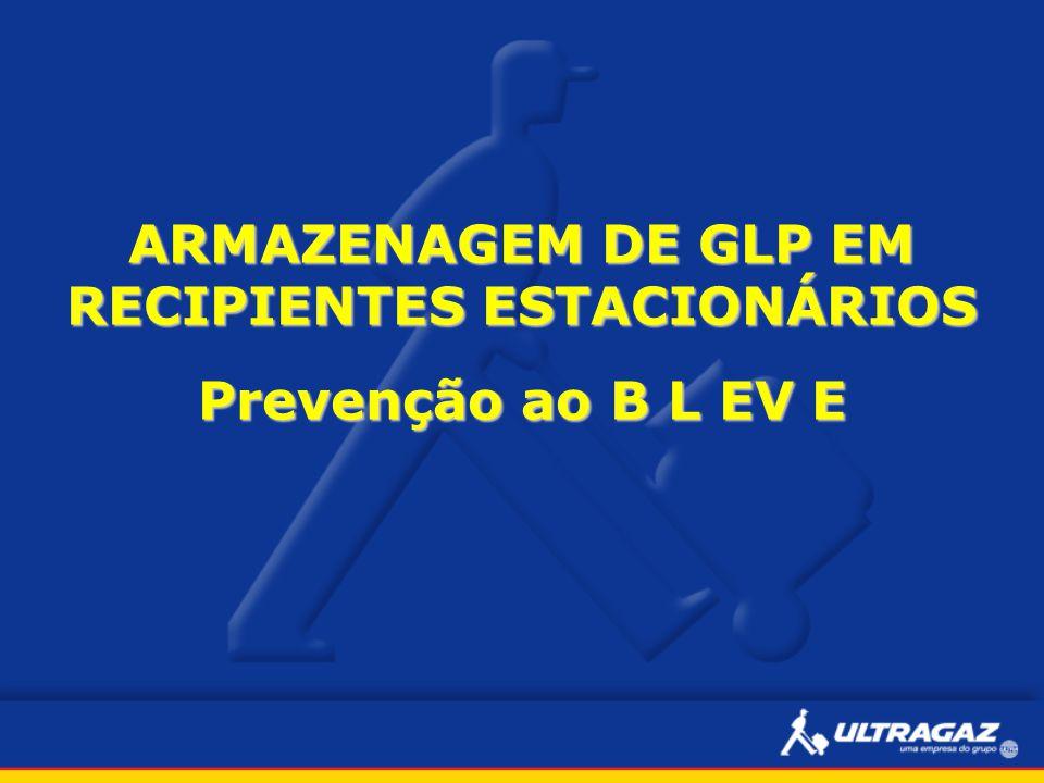 ARMAZENAGEM DE GLP EM RECIPIENTES ESTACIONÁRIOS Prevenção ao B L EV E